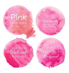 pink watercolor circle set on white background vector image