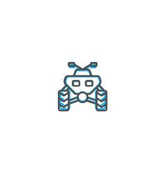 quad icon design transportation icon design vector image