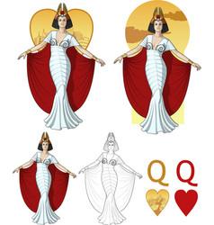 Queen of hearts actress Mafia card set vector image