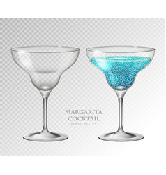 Realistic cocktail margarita vector