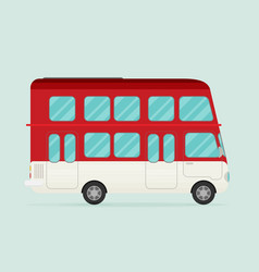 Retro bus flat vector