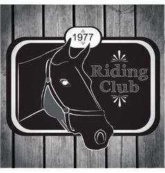 Retro label riding club vector image