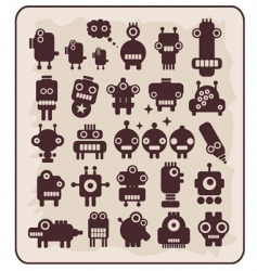 robots monsters vector image