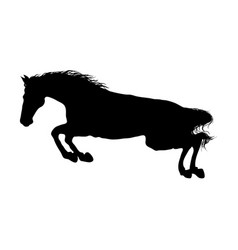 Running horse black silhouette vector
