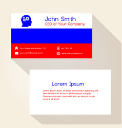 russia flag color business card design eps10 vector image