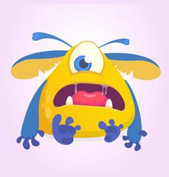 Sad cartoon monster character vector