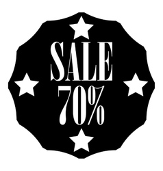 Sale sticker 70 percent off icon simple style vector