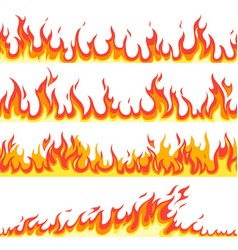 seamless fire flame fires flaming pattern vector image