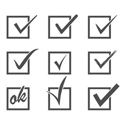 Set check marks vector