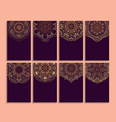 set of card of invitation or business with vector image