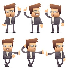 set of director character in different poses vector image