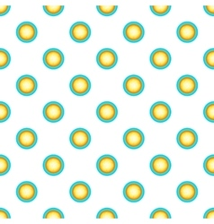 Sun in sky pattern cartoon style vector