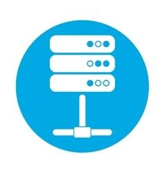 symbol global storage icon image design vector image