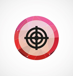 target circle pink triangle background icon vector image