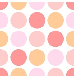 Tile pattern with pink and orange polka dots vector image vector image