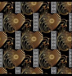 vintage 3d greek seamless pattern modern vector image