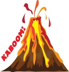 Volcano Kaboom vector