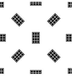 White arched window pattern seamless black vector