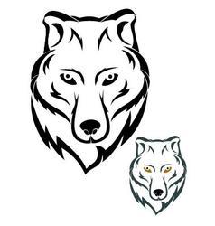 Wolf head symbol vector image vector image
