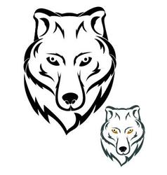 Wolf head symbol vector image