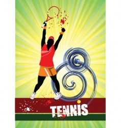 woman's tennis vector image
