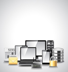 Computer network composition from devices vector image