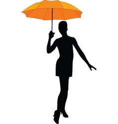 girl with umbrella - vector image vector image