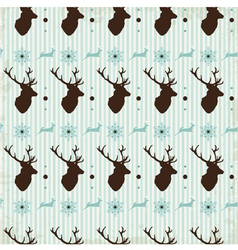 Vintage seamless background christmas pattern vector