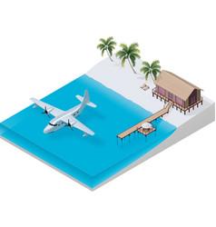 isometric tropical resort vector image
