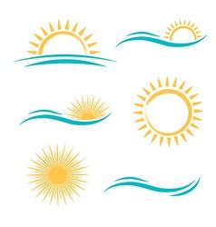 Sun and Sea Simple Logo vector image vector image