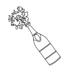 champagne bottle open vector image