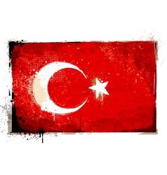 Grungy Turkey flag vector image