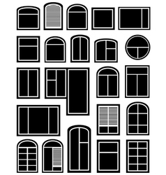 set window silhouette vector image
