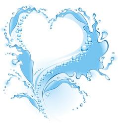 Splash heart vector