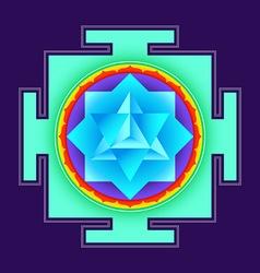 Colored merkaba yantra vector