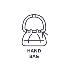 hand bag line icon outline sign linear symbol vector image