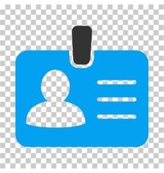 Person badge icon vector