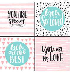 set with romantic backgrounds vector image