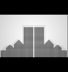 abstract city of pixeles vector image
