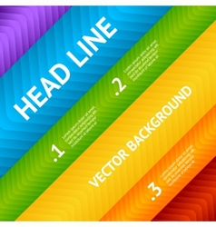 Abstract flyer text box with rainbow background vector image