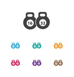 Active symbol on kettlebell vector