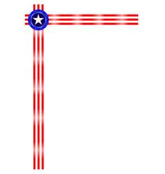 American symbols ribbon border frame a4 paper vector