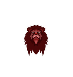 angry creative lion head logo vector image