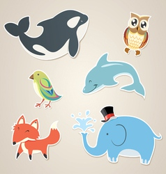 Animal Sticker vector image