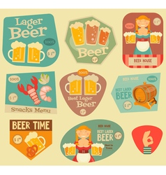 Beer Stickers vector