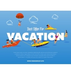 Best offer for vacation banner vector