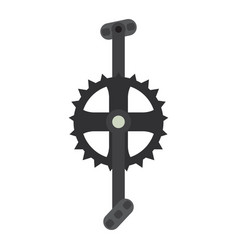 bicycle pedal in a gear vector image