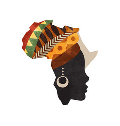 black african woman africa map concept isolated vector image
