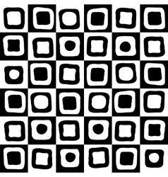 Black and white mosaic background vector image
