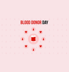 Blood donor day theme style banner vector